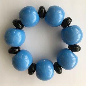 Jewelry - Black and Blue Beaded Bangle